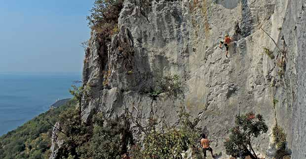 Climbing in Napoleonica, Trieste, Italy