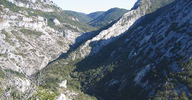 Val Rosandra, Italy, Karst edge