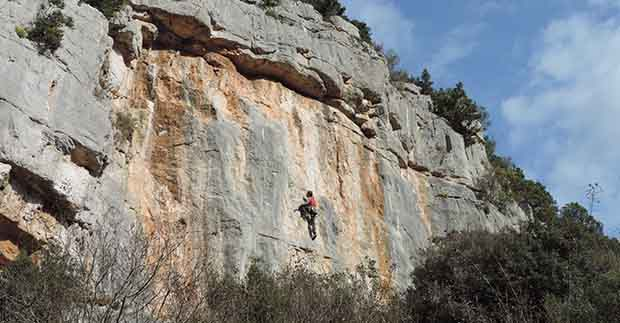 Amazing climbing above Lim bay in Croatian Istria