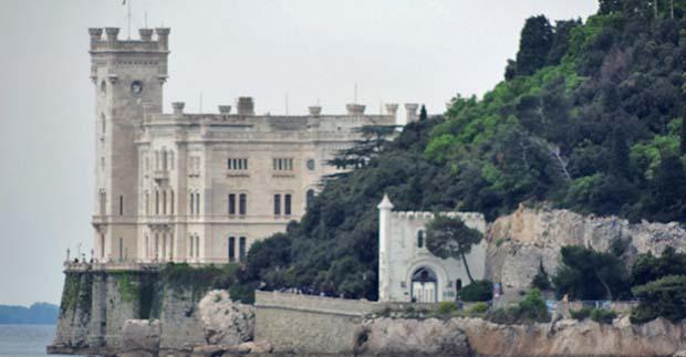 Miramare castle, Italy, Gulf of Trieste