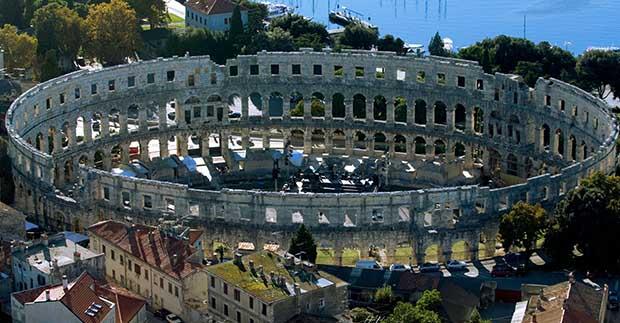 Roman amphitheatre Arena, Pula, Croatia