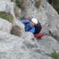 Multi-pitch climbing on the Karst Edge