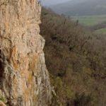 Perfect overhangs in Buzetski kanjon, Istria