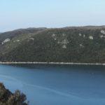 Beautiful Lim bay with Šimije multi-pitch wall